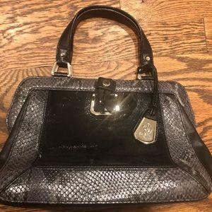 Cole Haan Black & Grey Leather Bag